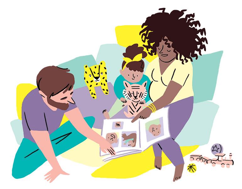 """«Leur naissance, une histoire """"pour de vrai""""», Pomme d'Api n° 640, juin 2019. Texte : Joséphine Lebard. Illustrations : Kei Lam."""