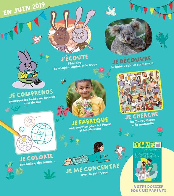 Sommaire du magazine Pomme d'Api n°640, juin 2019.