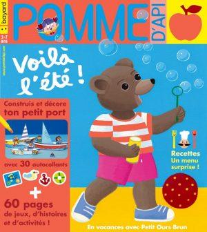 Pomme d'Api, juillet 2019, n° 641. Illustration de la couverture : Danièle Bour