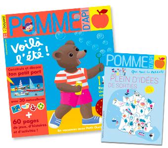 Couverture du magazine Pomme d'Api et son supplément pour les parents, n°641, juillet 2019