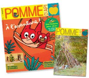 Couverture du magazine Pomme d'Api et son supplément pour les parents, n°642, août 2019