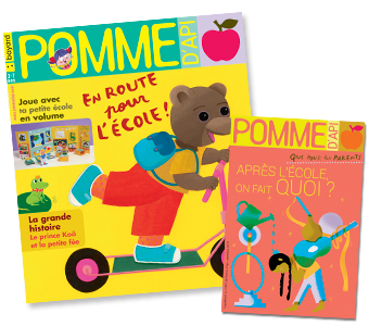 Couverture du magazine Pomme d'Api et son supplément pour les parents, n°643, septembre 2019