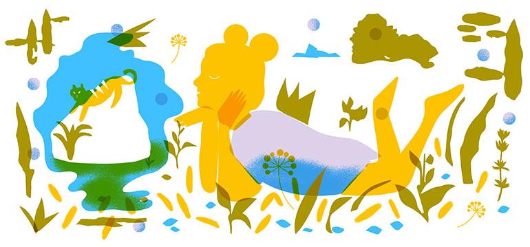 """Activités extrascolaires - """"Une activité à tout prix ?"""", supplément pour les parents du magazine Pomme d'Api n°643, septembre 2019. Texte : Anne Bideault. Dossier illustré par Bérénice Milon."""