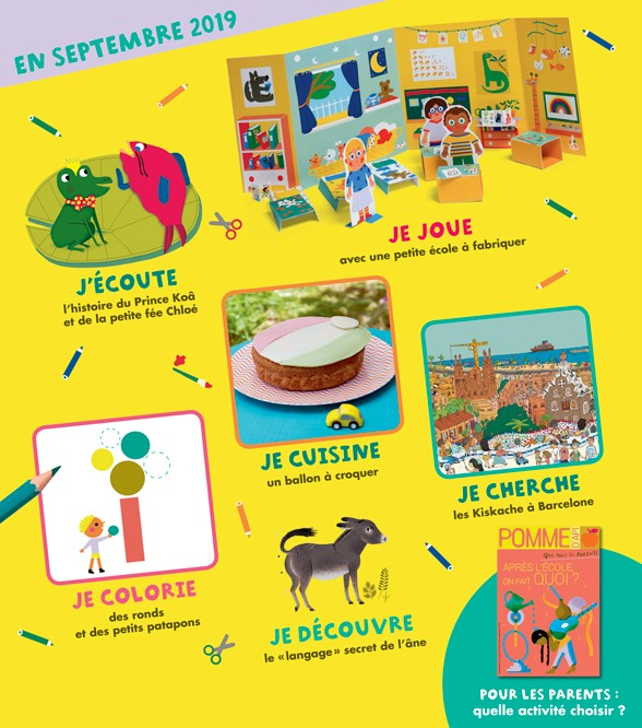 Sommaire du magazine Pomme d'Api, n°643, septembre 2019