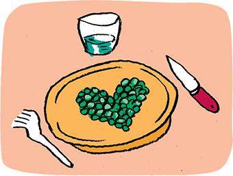 À TABLE ! Ensemble, c'est meilleur ! Illustration : Muzo.