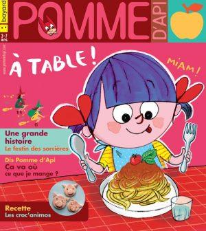 Couverture du magazine Pomme d'Api et son supplément pour les parents, n°644, octobre 2019 - Illustration : Frédéric Benaglia
