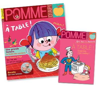 Couverture du magazine Pomme d'Api et son supplément pour les parents, n°644, octobre 2019