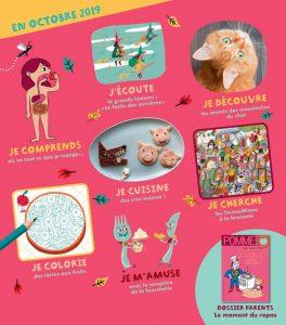 Sommaire du magazine Pomme d'Api, n°644, octobre 2019