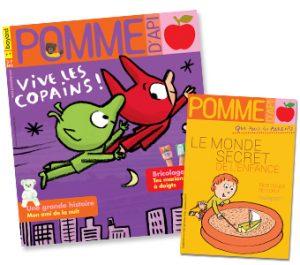 Couverture du magazine Pomme d'Api et son supplément pour les parents, n°645, novembre 2019
