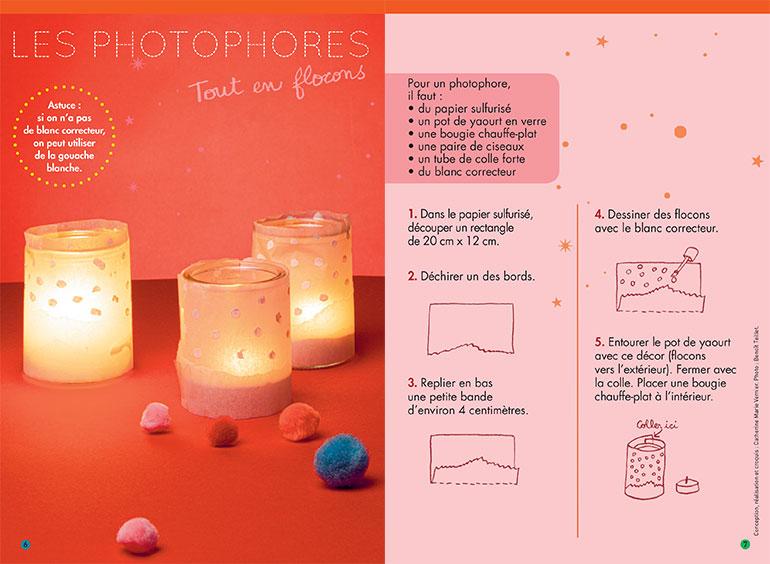 """""""3 bricos de Noël à faire ensemble"""", supplément pour les parents du magazine Pomme d'Api n°646, décembre 2019. p. 7 : conception, réalisation et croquis : Catherine Marie Vernier. Photo : Benoît Teillet."""