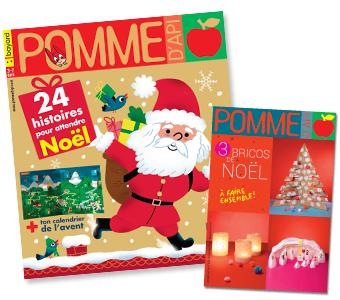 Couverture du magazine Pomme d'Api et son supplément pour les parents, n°646, décembre 2019