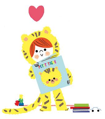 """""""Lire avec son enfant, pourquoi c'est important"""", supplément pour les parents du magazine Pomme d'Api n°647, janvier 2020. Texte : Joséphine Lebard. Illustrations : Sophie Bouxom."""