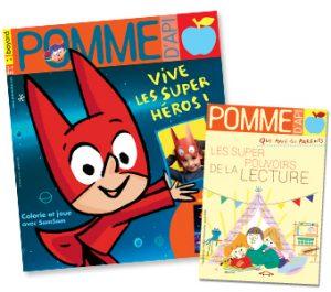 Couverture du magazine Pomme d'Api et son supplément pour les parents, n°647, janvier 2020