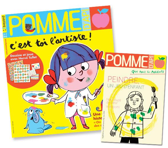 Couverture du magazine Pomme d'Api et son supplément pour les parents, n°649, mars 2020