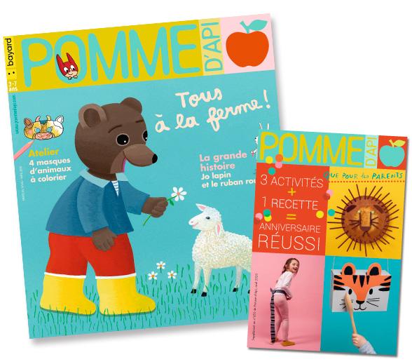 Couverture du magazine Pomme d'Api et son supplément pour les parents, n°650, avril 2020