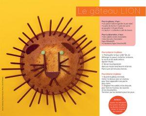 """""""Le gâteau lion"""", supplément pour les parents du magazine Pomme d'Api n°650, avril 2020. Texte : Virginie Rousset. Photo : Benoît Pelletier."""