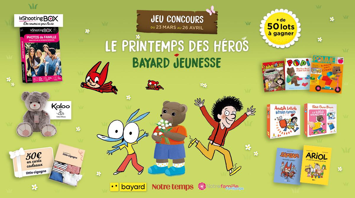 Jeu concours « Le printemps des héros Bayard Jeunesse »