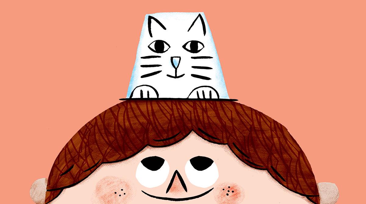 Bricolage : petit chat-pot n°613 Pomme d'Api