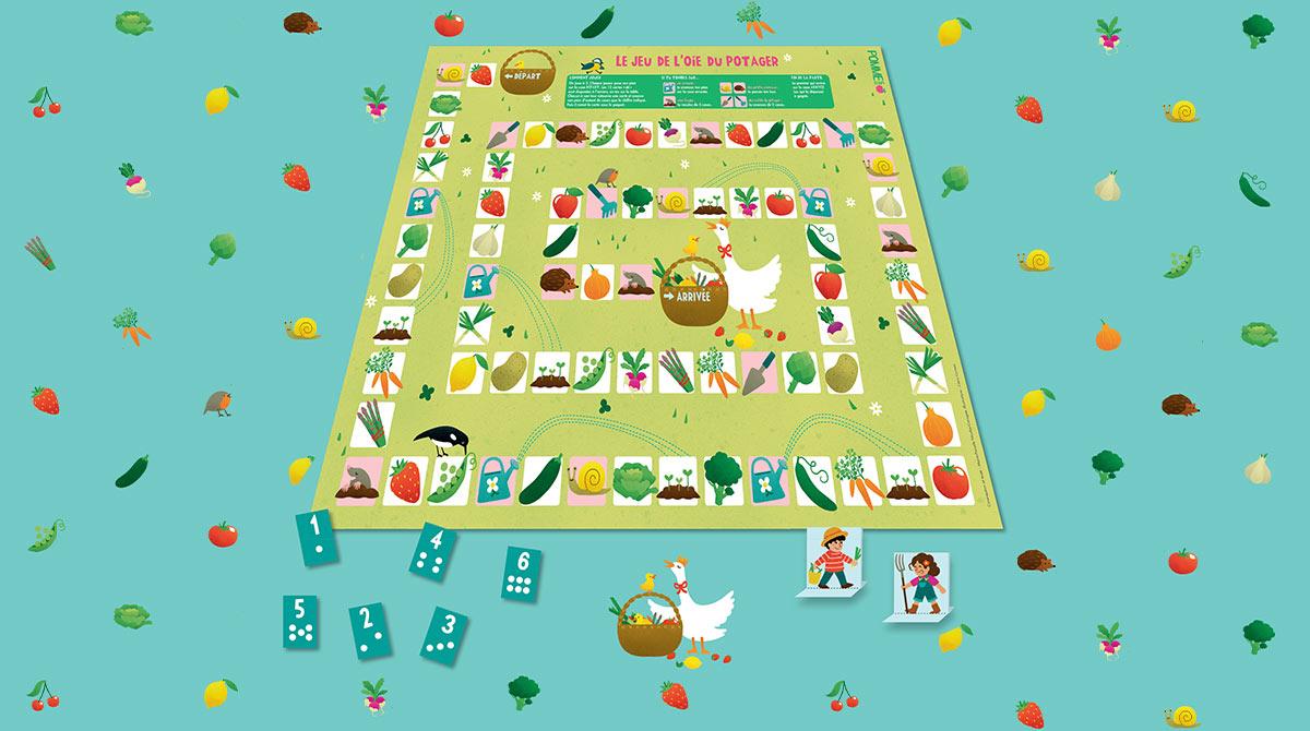 Le jeu de l'oie du potager