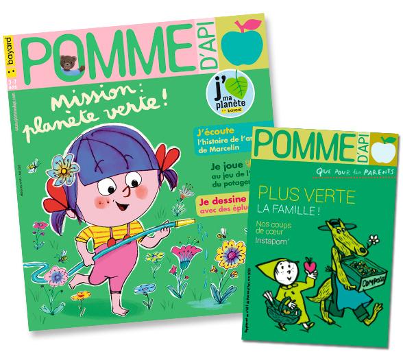 Sommaire du magazine Pomme d'Api et son supplément pour les parents, n°651, mai 2020