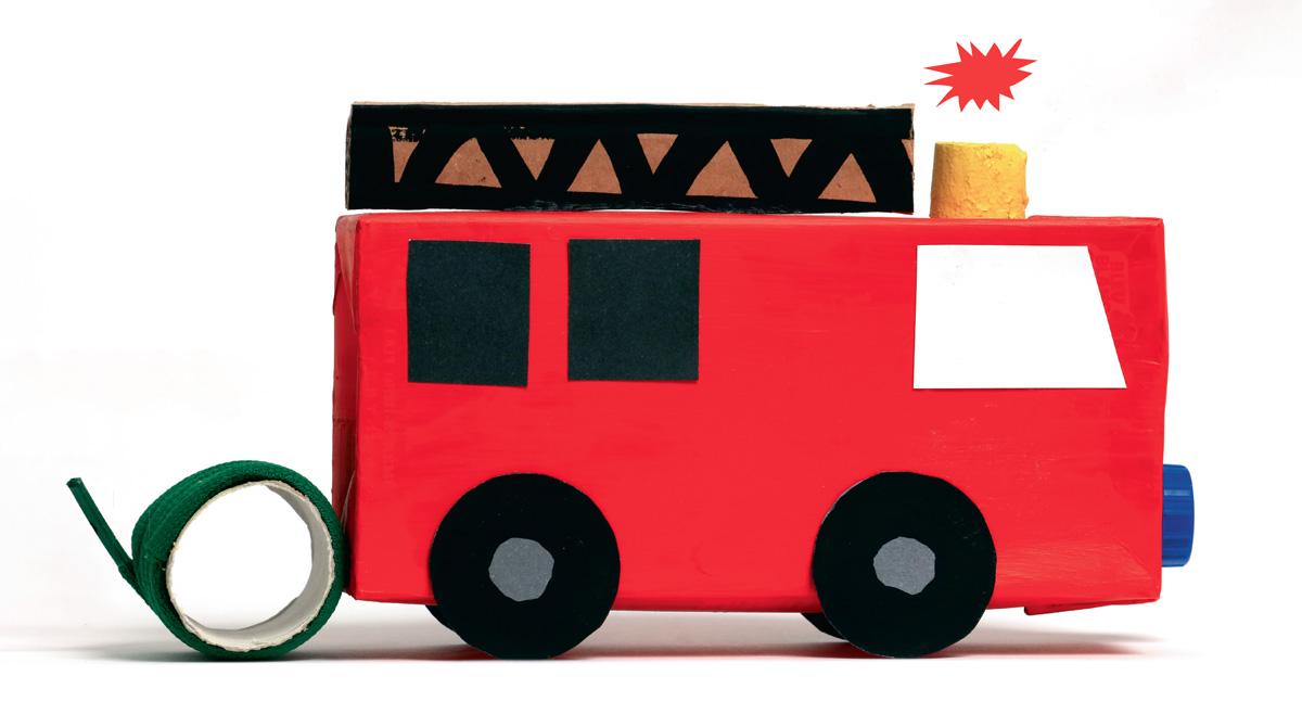 Bricolage : camion de pompier Pomme d'Api n°639