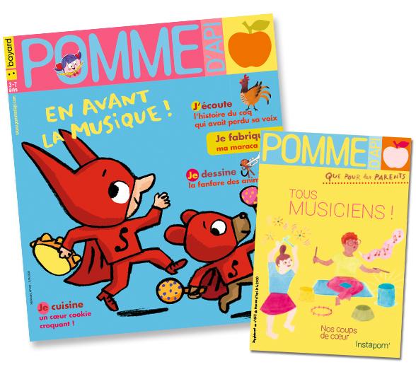 Couverture du magazine Pomme d'Api et son supplément pour les parents, n°652, juin 2020