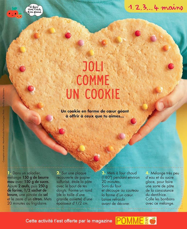 « Joli comme un cookie », Pomme d'Api n°652, juin 2020. Conception et texte : Marie-Pascale Nicolas-Cocagne. Photo : Geoffroy de Boismenu.