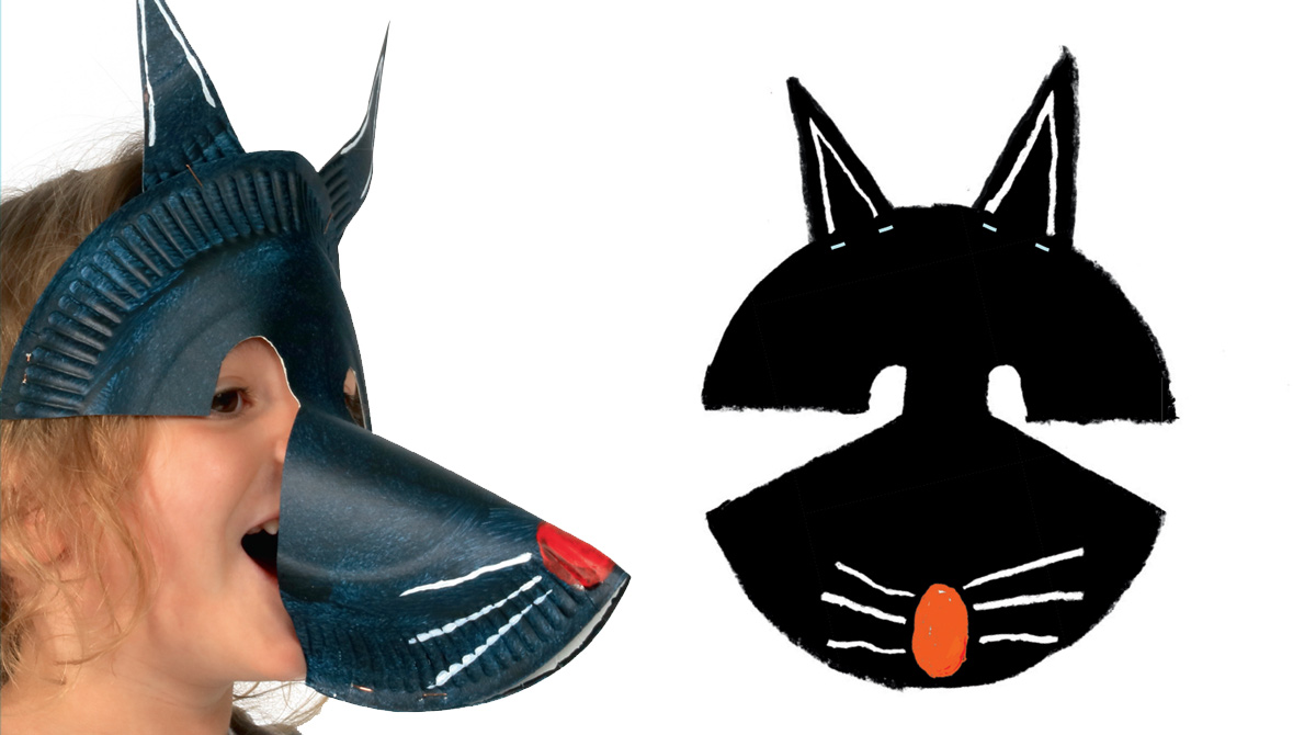 Bricolage : fabriquer un masque de loup n°612 - Pomme d'Api