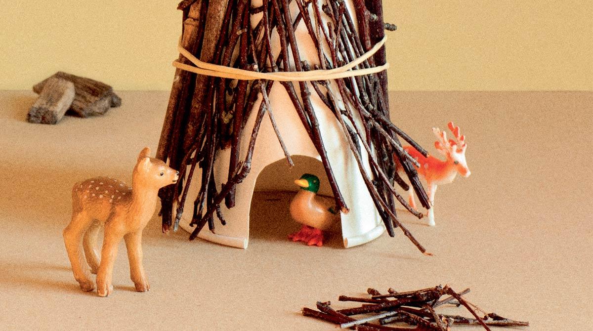 « Mini-cabanes » Pomme d'Api n°642, août 2019. Conception et texte : Marie-Pascale Nicolas-Cocagne. Photo : Geoffroy de Boismenu. Croquis : Catherine Marie Vernier.