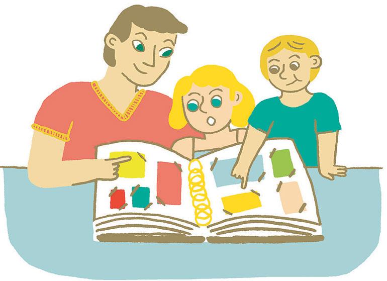 """""""Quelle place pour les écrans cet été?"""", supplément pour les parents du magazine Pomme d'Api n°653, juillet 2020. Illustrations : Charline Giquel."""
