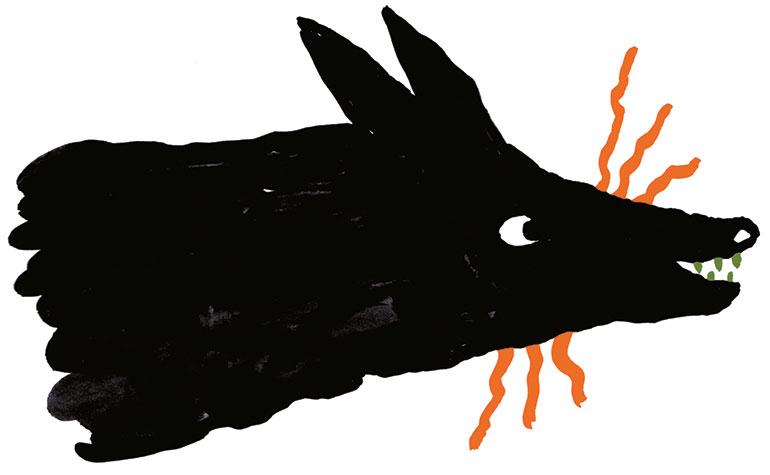 """""""La peur du loup"""", supplément pour les parents du magazine Pomme d'Api n°657, novembre 2020. Texte : Joséphine Lebard. Illustrations : Marie Assénat."""