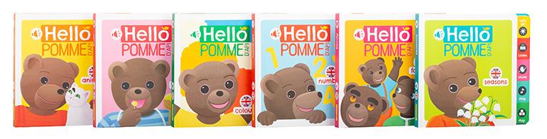 Hello Pommed'Api - 6 volumes : les animaux, la nourriture, les couleurs, la famille, les saisons, les chiffres.
