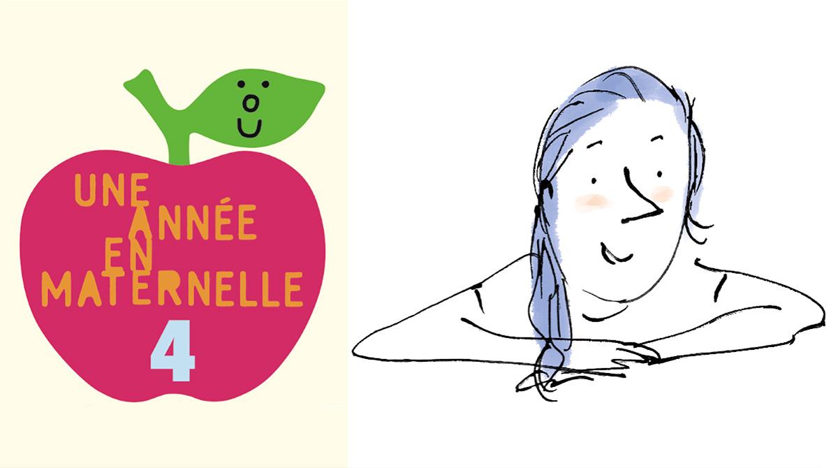 """""""Une année en maternelle n°4"""", Pomme d'Api n°568, décembre 2020 - Texte : Anne Ricou - Illustration : Robin."""
