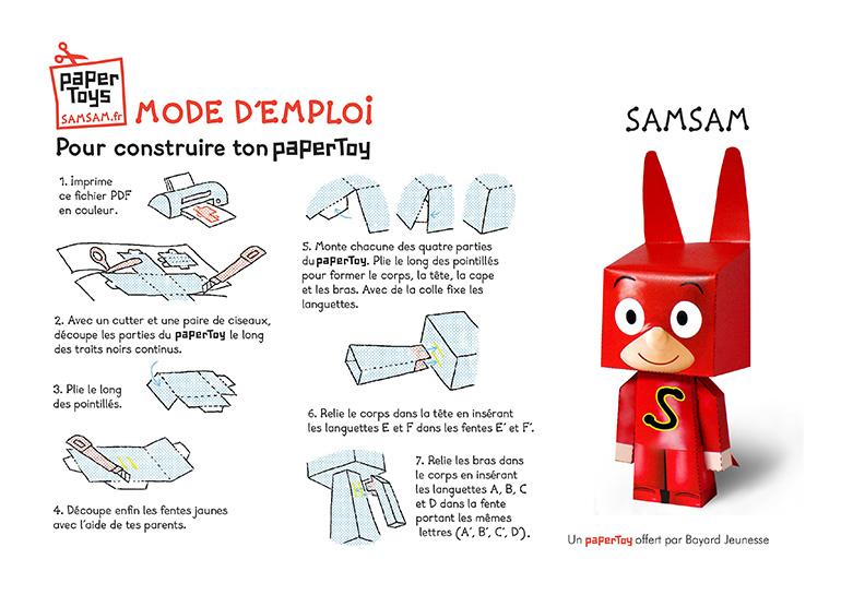 Paper toy SamSam