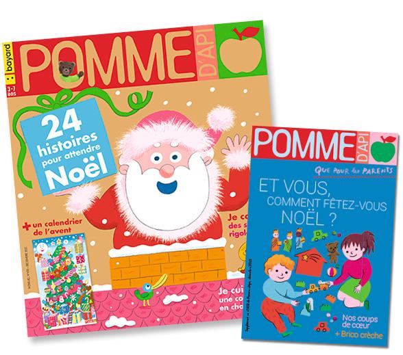 Couverture du magazine Pomme d'Api et son supplément pour les parents, n°658, décembre 2020