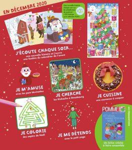 Sommaire du magazine Pomme d'Api et son supplément pour les parents, n°658, décembre 2020