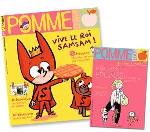 Couverture du magazine Pomme d'Api et son supplément pour les parents, n°659, janvier 2021