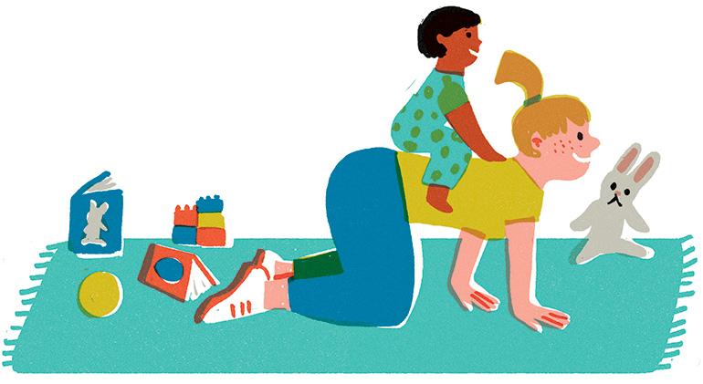 """""""Leurs premières fois (presque) sans nous"""", supplément pour les parents du magazine Pomme d'Api n°660, février 2021. Texte : Joséphine Lebard. Illustrations : Lucia Calfapietra."""