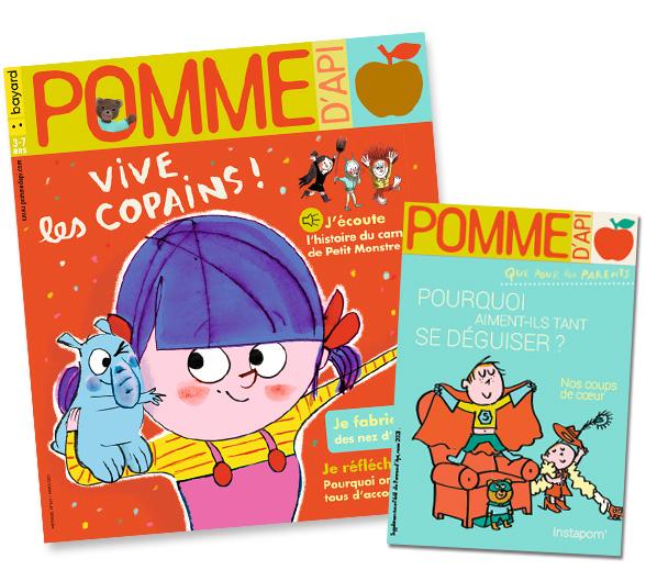 Couverture du magazine Pomme d'Api, et son supplément pour les parents,n°661, mars 2021