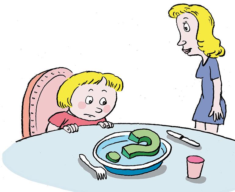 © Muzo. À l'âge Pomme d'Api, il est normal de bouder son assiette.
