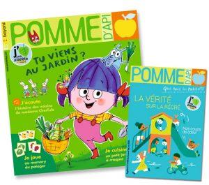 Couverture du magazine Pomme d'Api, et son supplément pour les parents, n°663, mai 2021