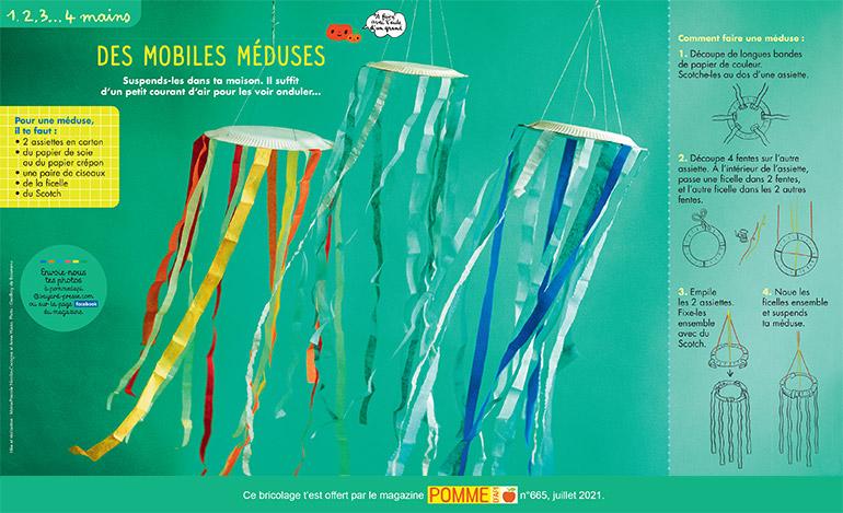 Des mobiles méduses. Photo : Geoffroy de Boismenu.