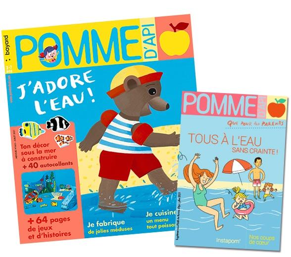 Couverture du magazine Pomme d'Api, et son supplément pour les parents, n°665, juillet 2021
