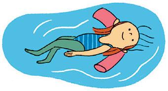 À partir de quel âge un enfant peut-il apprendre à nager ? Illustrations : Aki.