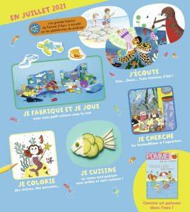 Sommaire du magazine Pomme d'Api, n°665, juillet 2021