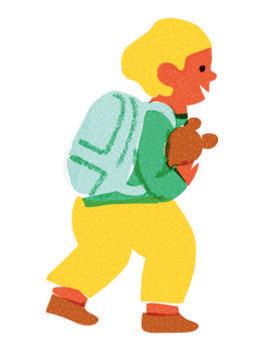 Les premiers jours d'école. La rentrée en maternelle. Illustrations : Lucia Calfapietra.