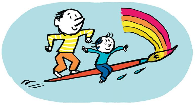 """""""Un grand-père, c'est surtout du temps, de la disponibilité"""" Illustration: Pascal Lemaître."""