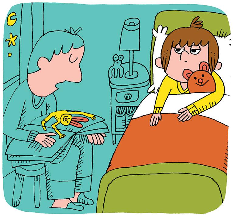 Aider votre enfant à s'endormir et repérer les signes de fatigue - Histoire du soir. Illustration:Charles Dutertre.